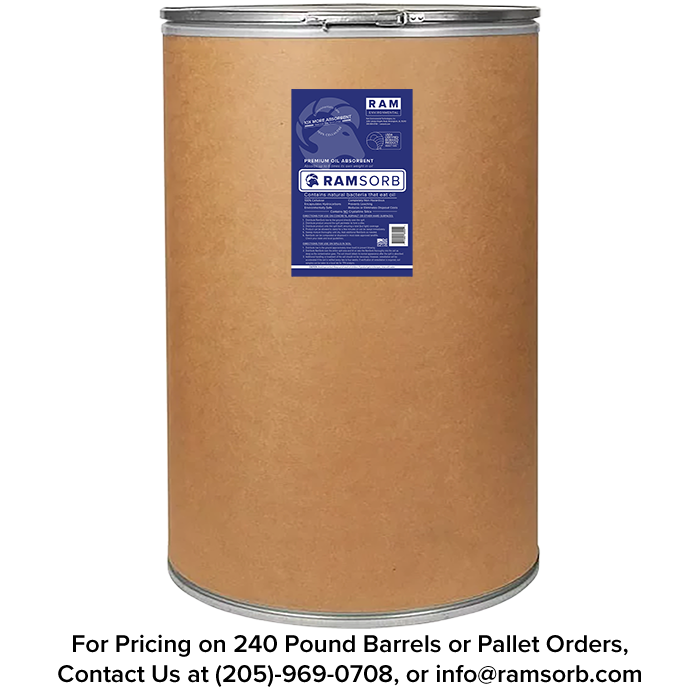 RamSorb 55 Gallon Fiber Barrel